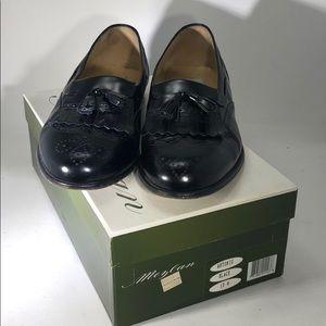 Mezlan Antonio Black Leather Tassel Loafers